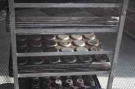 Only the muffins pan left of the bakery