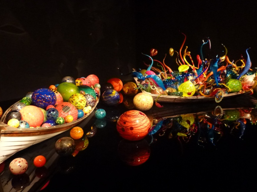 Magic adventure with Chihuly boats, Seattle